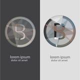 Buchstabe B mit mehrfachen Farbkombinationen Lizenzfreie Stockfotos