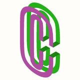 Buchstabe C Logo Icon Design Template Element Stockfotos