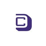 Buchstabe CD-Logovektor Stockfotografie