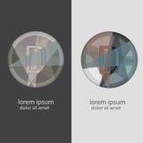 Buchstabe D mit mehrfachen Farbkombinationen Stockfotos