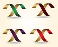 Buchstabe der Vektorillustration 3D von M Design Stockbild