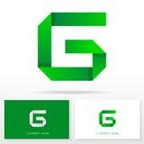 Buchstabe G-Logoikonendesign-Schablonenelemente - Illustration Lizenzfreies Stockfoto