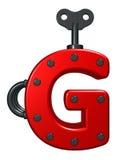 Buchstabe g mit dekorativen Stücken Stockbilder