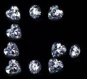 Buchstabe G mit Diamanten Stockbilder