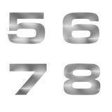 Buchstabe im silbernen Metallbeschaffenheitshintergrund Lizenzfreie Stockbilder