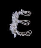 Buchstabe L gemacht von den Perlen Stockfotografie