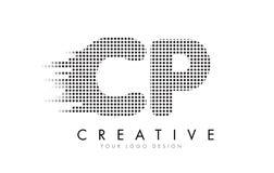 Buchstabe-Logo CPs C P mit schwarzen Flecken und Spuren Lizenzfreie Stockbilder