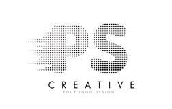 Buchstabe-Logo PS P S mit schwarzen Flecken und Spuren Lizenzfreie Stockfotos