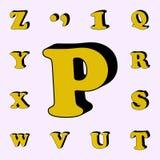 Buchstabe P, Alphabet, Ikone 3D Ikonen-Universalsatz der Wörter 3D für Netz und Mobile stock abbildung
