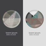 Buchstabe P mit mehrfachen Farbkombinationen Lizenzfreie Stockfotos