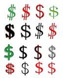 Buchstabe S, der ein Zeichen des Dollars kennzeichnet Stockfotos