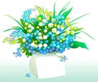Buchstabe und Blumen stock abbildung