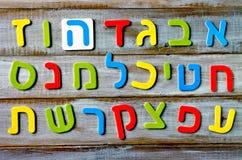 Buchstabe- und Charakterhintergrund des hebräischen Alphabetes Stockfotografie