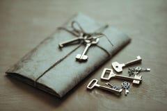 Buchstabe und die Schlüssel Lizenzfreies Stockbild