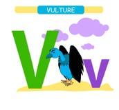 Buchstabe V und lustiger Karikaturgeier r r Printa vektor abbildung