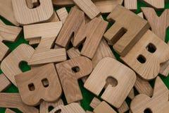 Buchstabe vom Holz Stockfoto