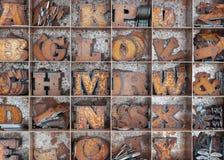 Buchstaben Stockbild