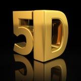 Buchstaben 5D Stockfotografie