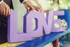 Buchstaben der Liebe Stockfotografie