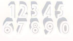 Buchstaben der Wiedergabe 3d in der weißen Farbe Stockbilder