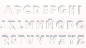 Buchstaben der Wiedergabe 3d in der weißen Farbe Lizenzfreies Stockbild