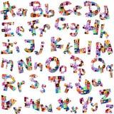 Buchstaben des Alphabetes gemacht vom Buchstabemuster Lizenzfreie Stockfotos