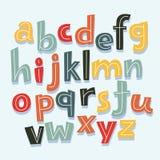 Buchstaben des Alphabetes in Kleinschreibung Lizenzfreie Stockfotografie