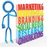 Buchstaben des Marketing-3D Lizenzfreies Stockbild