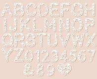 Buchstaben für Laser-Ausschnitt Englisches Alphabet Stockbilder