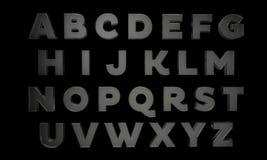 Buchstaben im Glas Lizenzfreies Stockbild