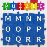 Buchstaben (mit Beschneidungspfad) Stockfotos