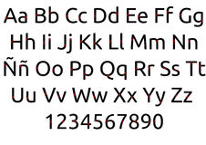 Buchstaben mit Herzen lizenzfreies stockfoto