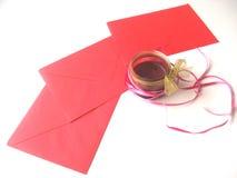 Buchstaben mit Liebe für St.-Valentinsgrußtag Stockfotos