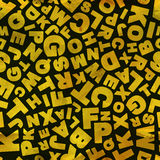 Buchstaben. Nahtloses Muster. Stock Abbildung