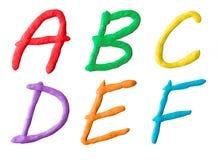 Buchstaben vom Plasticine Stockfoto