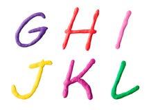 Buchstaben vom Plasticine Lizenzfreies Stockfoto