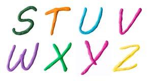 Buchstaben vom Plasticine Lizenzfreies Stockbild