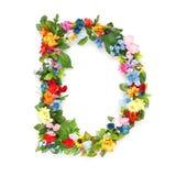 Buchstaben von Blättern und von Blumen Lizenzfreies Stockfoto