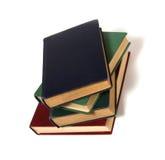 Buchstapel getrennt auf Weiß Lizenzfreie Stockbilder