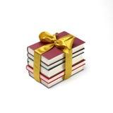 Buchstapelgeschenk Lizenzfreie Stockbilder