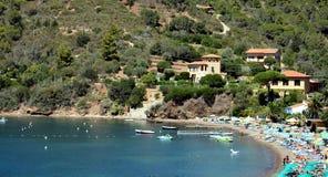 Bucht Bagnaia Portoferraio, Panoramablick, Elba Island lizenzfreie stockfotografie
