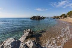 Bucht bei Stoupa Stockfoto