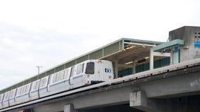 Bucht-Bereichs-schnelle Durchfahrt, BART, bellen angemessene Station Stockbild