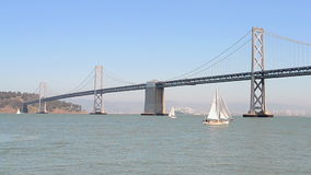 Bucht-Brücke in San Francisco, Kalifornien, USA, stock footage