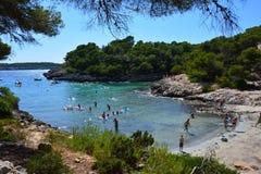 Bucht Calas Barca Stockfotografie
