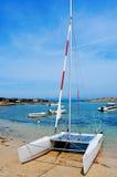 Bucht Calas Sa Roqueta in Formentera, die Balearischen Inseln, Spanien Lizenzfreie Stockbilder