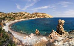 Bucht der Aphrodite Paphos, Zypern lizenzfreie stockbilder