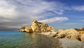 Bucht der Aphrodite Paphos, Zypern stockbilder
