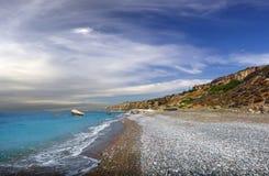 Bucht der Aphrodite Paphos, Zypern stockfotos
