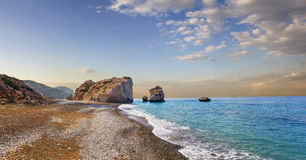 Bucht der Aphrodite Paphos, Zypern lizenzfreies stockbild